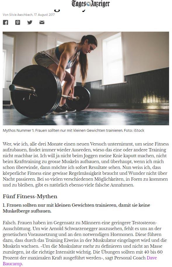 Kursleiter SAFS und Kunden Fitness